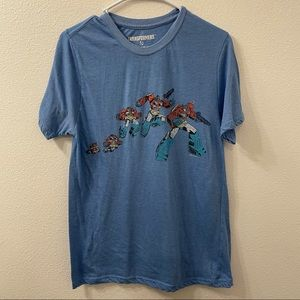Loot crate transformers t shirt blue large